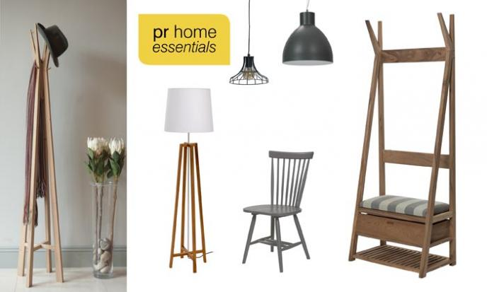 pr home essentials - totem hall stand, totem coat stand, cross floor lamp...
