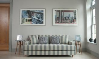 Brighton striped sofa & kinsale