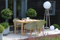 Antibes Dining Table - 135cm with Harris dining chairs - rhino