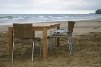 Lido Outdoor Dining Chair with Arms - Camel