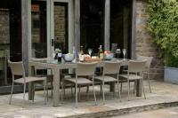 Partner Outdoor Dining Table & Rollo Dining Chair - Kubu