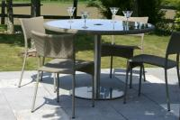 Rollo Outdoor Dining Chair - Kubu with Orleon