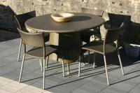 Tarn Outdoor Table - 120cm & Rollo Chair - Summergrass weave