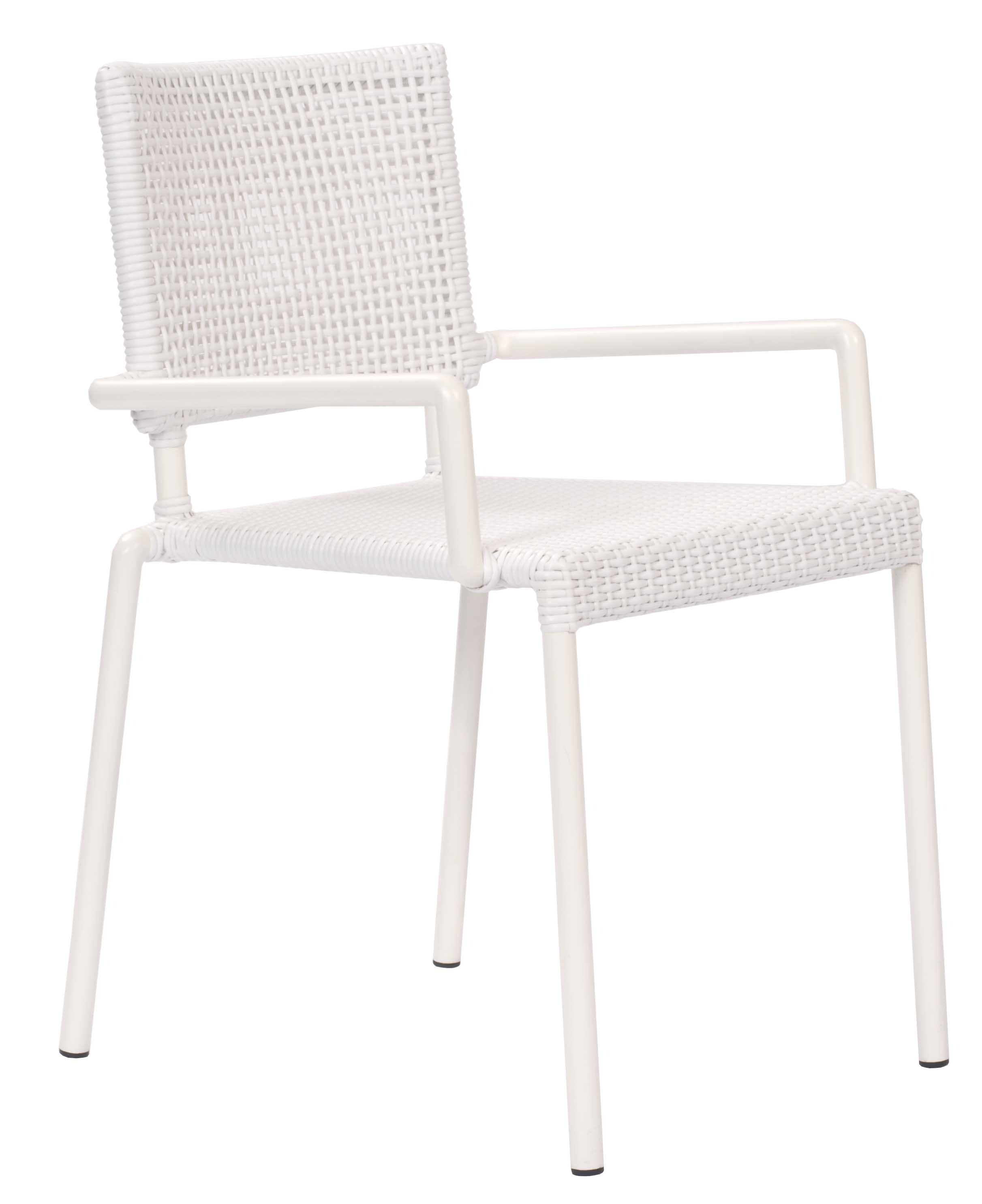 Lido outdoor dining chair with arms white pr home for White dining chairs with arms