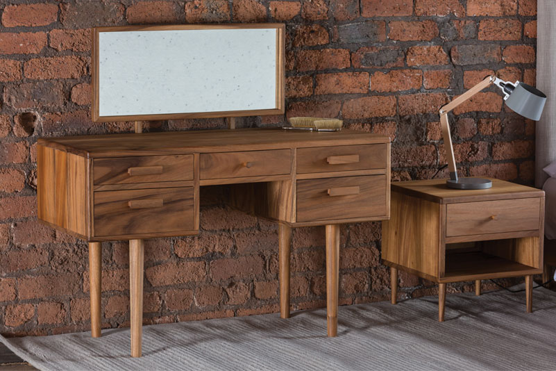 Hardwood Dressing Table In Protective Oil Finish With Optional Hinged  Mirror. Part Of Our New Shoreditch Bedroom Range.