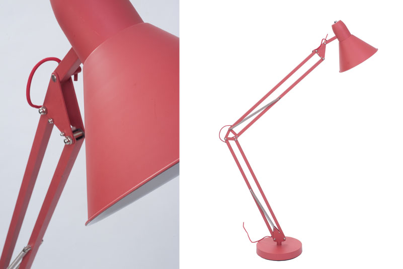 Soho Floor Lamp Red or Mid Grey | pr home