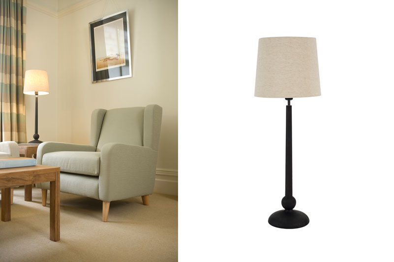 Vienna table lamp earth pr home a turned wood lamp with as much elegance as a viennese waltz aloadofball Choice Image